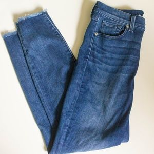 7FAM High Waist Skinny Ankle Jeans